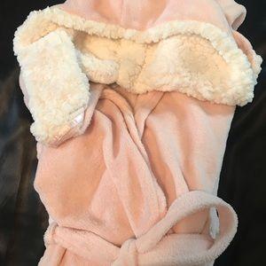 Soft Fleece NWT Pink Hooded Robe L/XL